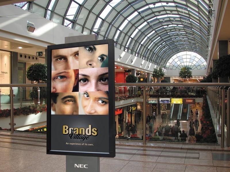 Плазменные панели NEC в Торговом центре